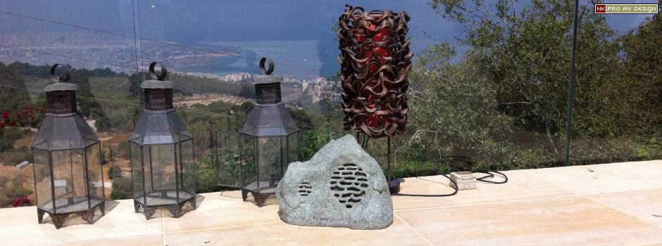 All weather rock shape loudspeakers